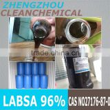 Shampoo and body shampoo raw material raw material linear alkyl benzene sulphonic acid- LABSA 96% manufacturer