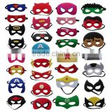 Wholesale Halloween cosplay costume Soft Felt Superhero mask for kids