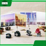 cheap resin cartoon antique sewing machine camera telephone phonograph photo name business card holder