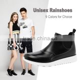 new design hotsale fashion men women unisex low cut ankle summer spring PVC rain boot rainshoes gumboot with elastic gore