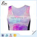 Sublimation Printing New Brand Factory In China Wholesale Ladies Custom Design Spandex Yoga Sports Bra