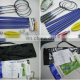 Outdoor Beach Badminton Racquets Set with Net And 6/8 Poles