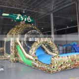 Water slides with bouncer camouflage inflatable games outdoor games