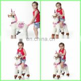 HI CE plush riding animals mechanical pony walking toy pony