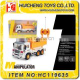 Different style engineering vehicles 4 channels mini china garbage truck toy with light