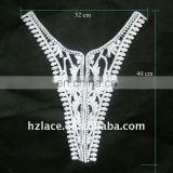 Bleaching embroidery collar lace for ladies' neck