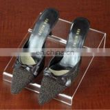 acrylic shoe display for leather shoes