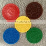 Distinctive promotional plastic token