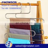 Factory wholesale cheap item stainless steel metal hanger, home accessory, s shape cloth hanger