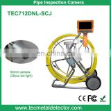 Self-leveling waterproof sewer pipe inspection camera with meter counter and 512Hz transmitter TEC712DNL-SCJ