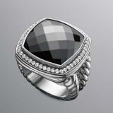 David Yurman  Women  925 Sterling Silver  Hematite  Albion Ring