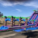 Inflatable slip and slide inflatable water slide axs-17