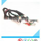 custom automobile motorcycle electronic wire harness with 2.8 white connector manufacturer