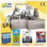 AUTO Toothbrush/Scissors/Battery/Solid Gum Paper-Plastic Blister Packing Machine Wholesale