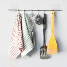 Stainless Steel Non-Perforated Kitchen Hook/Wall Hook Storage Rack Multi-Functional