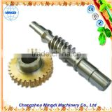 survival gear / Pinion Brass Worm Gear Alloy Wheel Screw Shaft