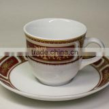 Custom printed ceramic coffee&tea set,porcelain cup&saucer,royal porcelain cup and saucer