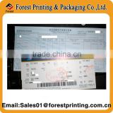 Airline Thermal Paper Boarding Pass Flight Ticket