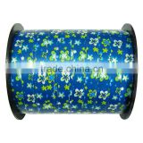 5mm wide ribbon and 500 yards long balloon ribbon spool printing with flowers for gift wrapping