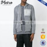 New fashion high quality custom made hoodie grey zip up hoodie
