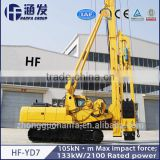 HF-YD7 Earth Drilling Machine Ground Screw Pile Driver
