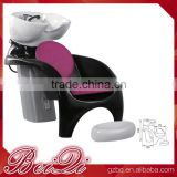 Classic Black & Chrome Beauty Salon Backwash Bowl Shampoo Barber Chair Spa Furniture