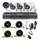 4 Channel 960H DVR 4PCS 700TVL IR Weatherproof Outdoor CCTV Camera system Home Security System Surveillance Kits                                                                         Quality Choice