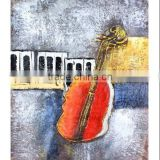 Top Quality Best Price Abstract Violin Oil Painting for Bar Office Home Decoration