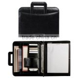 Multifunctional travel document holder portfolio with handle