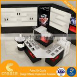 Modern wall mount glass cosmetic shop display counter design from Guangzhou China