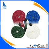 colorful solid braided pp polyester fender line for yacht and boat
