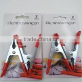 wholesale mini alligator clamp, iron spring clamp Big holding force