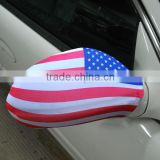 NO MOQ with custom design printed promotional car mirror flags