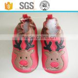 2016 girl boy kids christmas sheep leather baby soft shoes