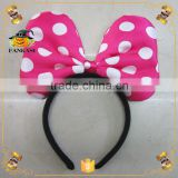 Kids fancy animal ear headband mickey mouse ears headband                                                                         Quality Choice