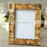 High quality black wood photo frame 2015 new design, ox bone + MDF newest photo frame, photo picture frame for family trees