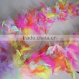 Mixed Color Turkey Chandelle Feather Boa Dress Up Wedding Decoration Suppliers