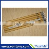 Hot sale promotional recycled craft paper HB pencil with eraser.
