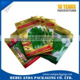 Custom plastic packaging aluminum foil seed bag with tear notch/ chia seed packaging bag