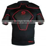 simple style Rugby protection padded top short American Football pro combat compression gear padded protection wear