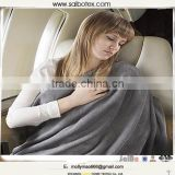 Gray color micro plush travel fleece blanket                                                                         Quality Choice