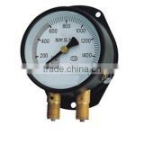 Double needle pressure gauge air gauge