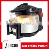Hot sale healthy cooking oil free rotary & turbo air fryer digital control with big glass window