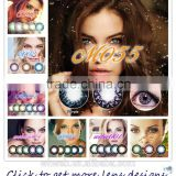 2016 tri color contact lens barbie contact