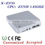 Fanless Mini PC Intel Z3735F Quad Core,2GB DDR3 32GB SSD VGA,TF Card,4*USB 2.0,Window 8.1