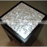 seamless white lip sea mother of pearl mosaic inlay table top