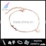 body jewellery rose gold hot sale 2015 trend handmade anklets for women
