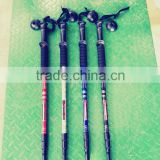 6061 aluminum alloy mountain stick, three joints and four joints straight handle Climbing Stick