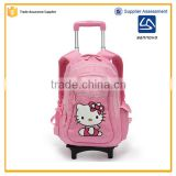 China factory new product stylish hello kitty girl school trolley bag                                                                                                         Supplier's Choice