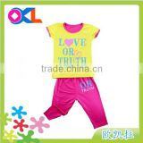 Made in ningbo factory super quality bulk wholesale kids tank short set
